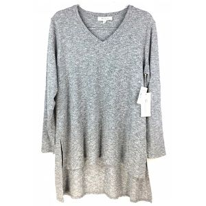 NWT Two By Vince Camuto Gray Ribbed Sweater 2X